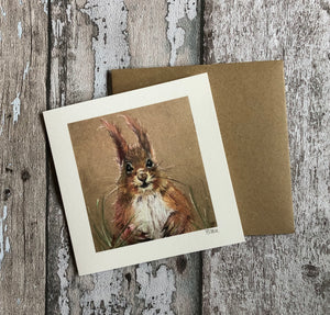Greeting Card  - Scottish Red Squirrel