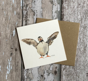 Greeting Card - Standing Puffin