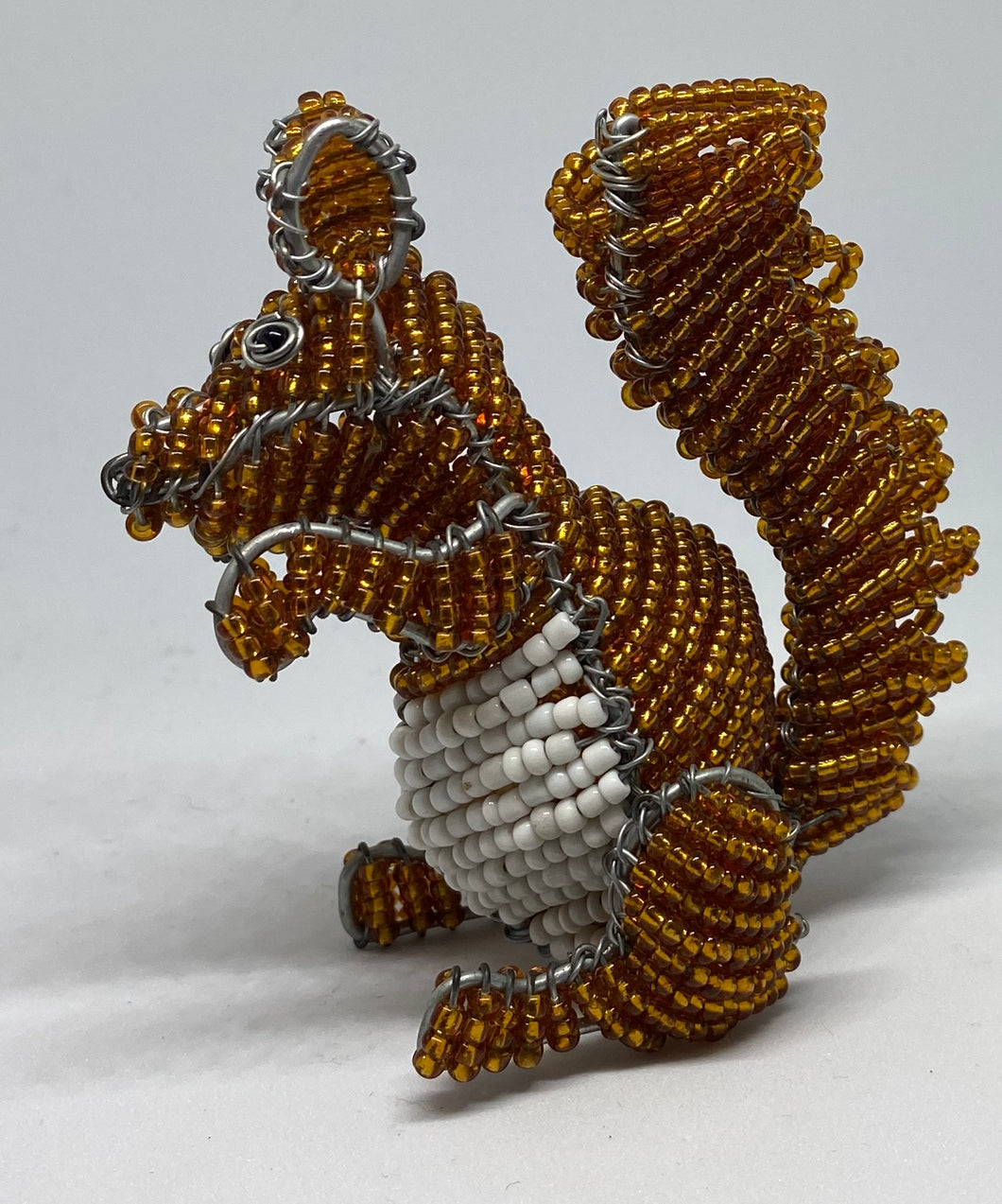 Beaded Red Squirrel - Hand Crafted