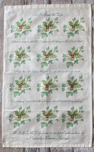 Tea Towel - Holly & the Ivy