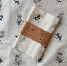 Load image into Gallery viewer, Tea Towel - The thistle & the bee