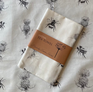 Tea Towel - The thistle & the bee