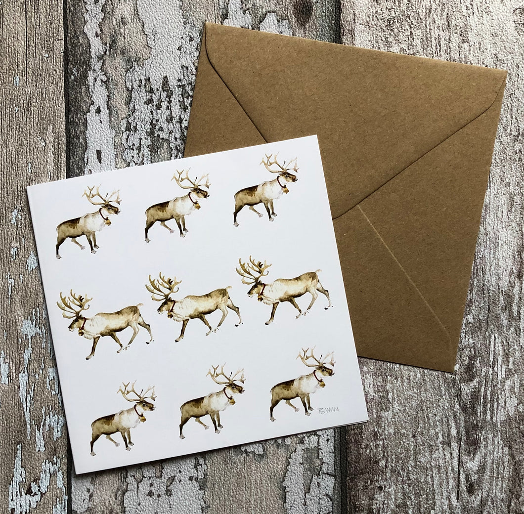 Greeting Card - Velvet noses and Sleigh Bells