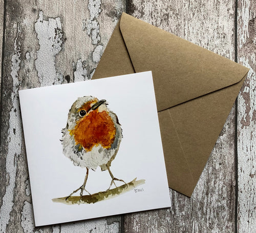 Greeting Card - A Curious Wee Robin