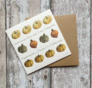 Greetings card - Winter Squash