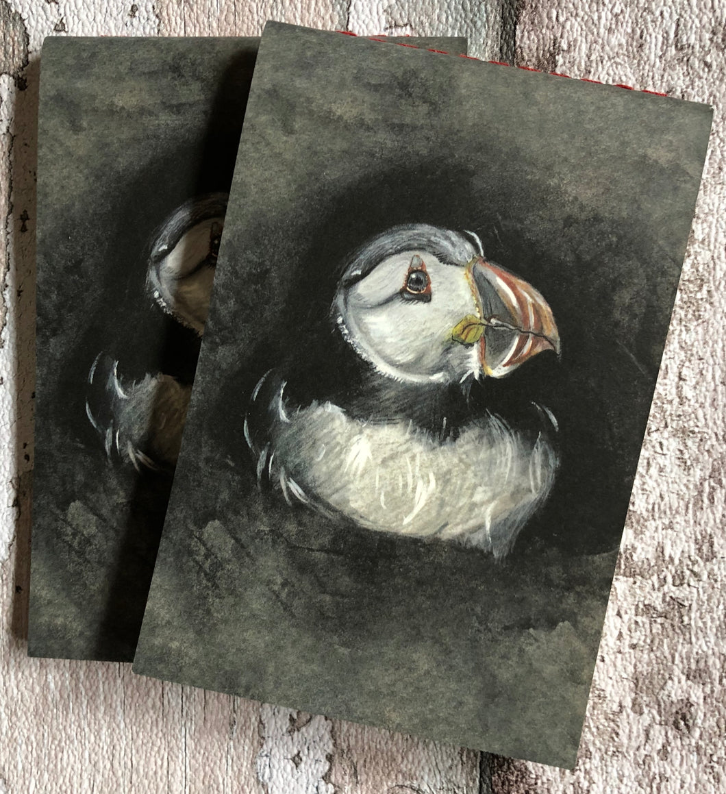 Small lined notebook - Nesting Puffin