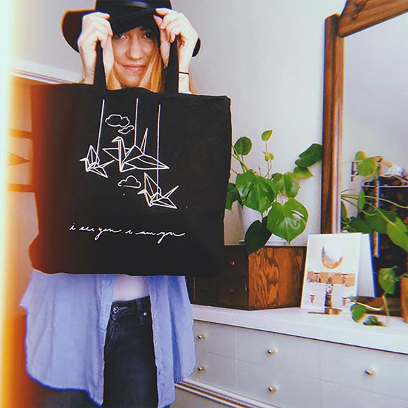 'being' tote