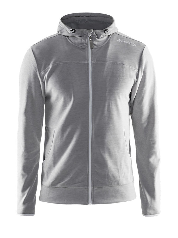 Craft Leisure Full Zip Hood M art.1901692 Grey Melange