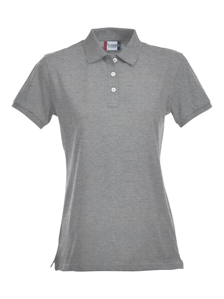 Clique Stretch Premium Polo Ladies art. 028241 Grey Melange
