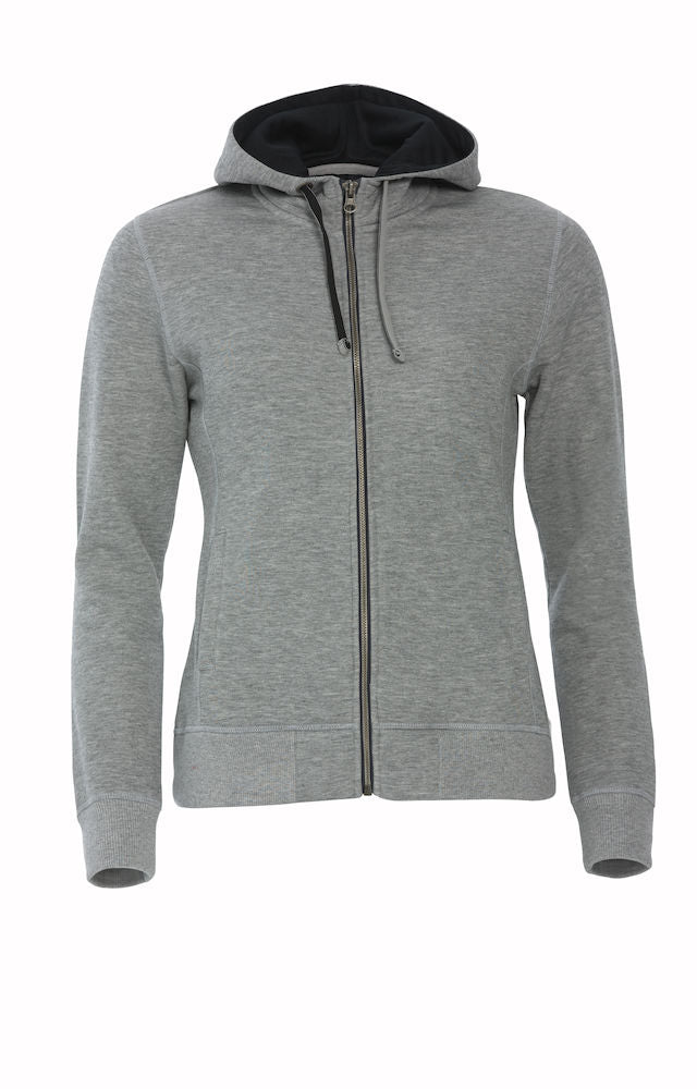 Clique Classic Hoody Full Zip Ladies art. 021045 Grey Melange