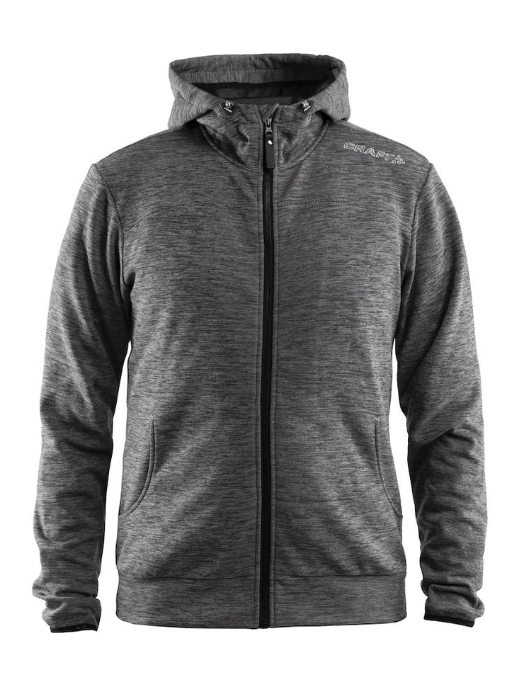 Craft Leisure Full Zip Hood M art.1901692 Dark Grey Me