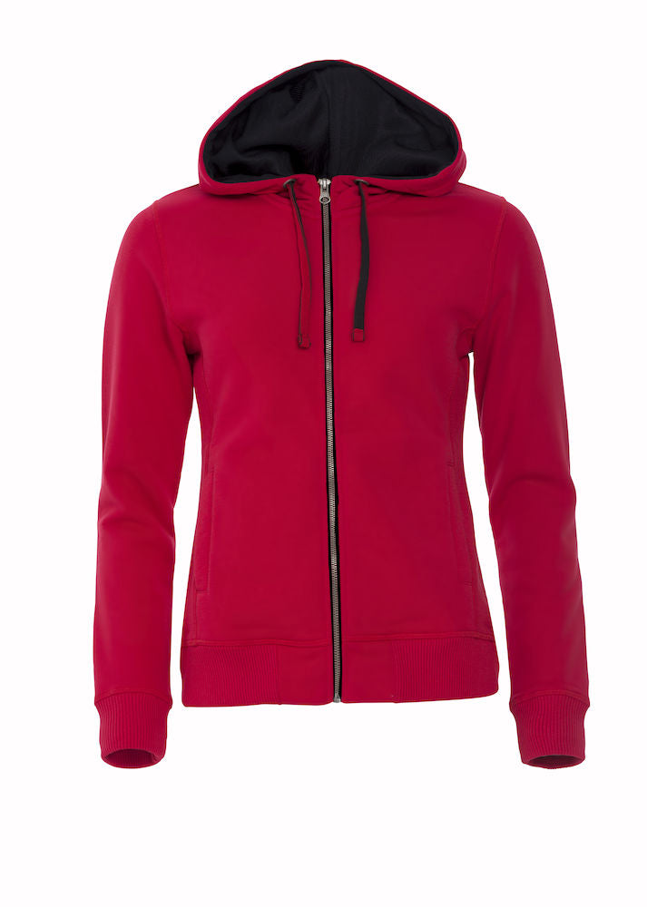 Clique Classic Hoody Full Zip art. 021045 Ladies Red