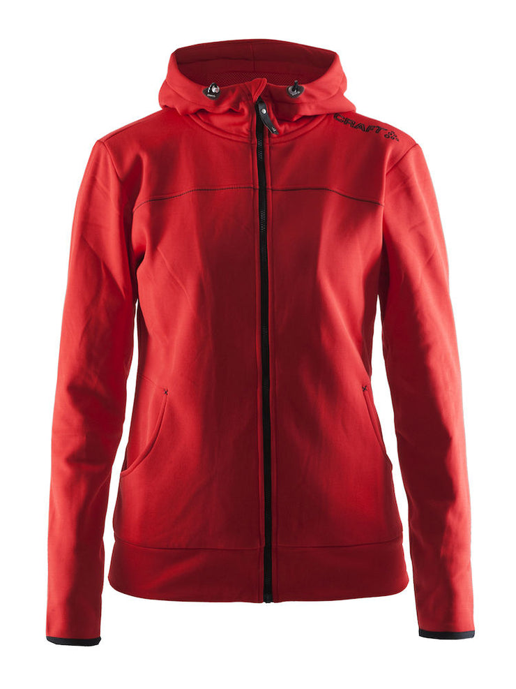 Craft Leisure Full Zip Hood W art.1901693 Bright Red