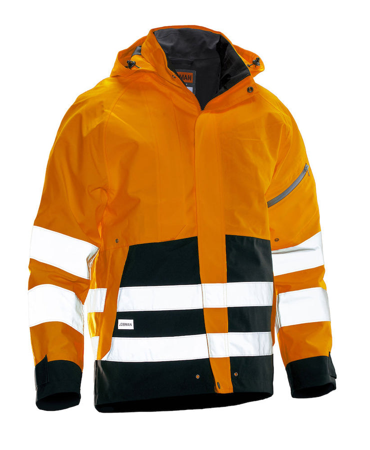 1273 JOBMAN HV Skalljakke Orange/Svart