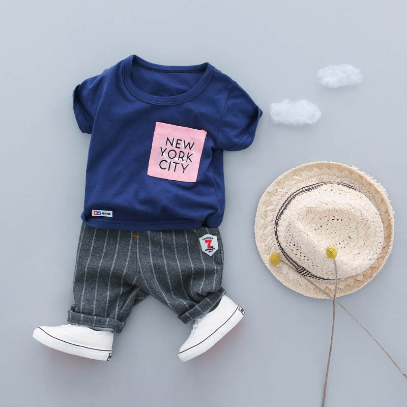 Baby Boy Clothing Set Summer 2018 New Style Infant Clothes Cool