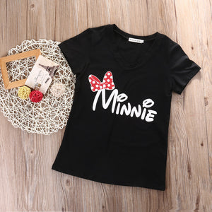 5392b12581d78 Emmababy Family Matching T-shirts Clothes Mother Daughter Cotton Tops mouse  Shirt Short Sleeve Women