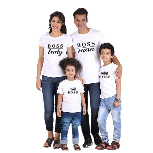 a40790628da87a ... Family Matching Outfits Father Mother Daughter Son Clothes Look tshirt  daddy mommy and me dress mom ...