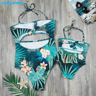 4b795f3162 ... Swimsuits Outfits Clothing. Family Matching Mother And Daughter Swimwear  One-pieces Hollow Out Princess Kids Mommy And Me