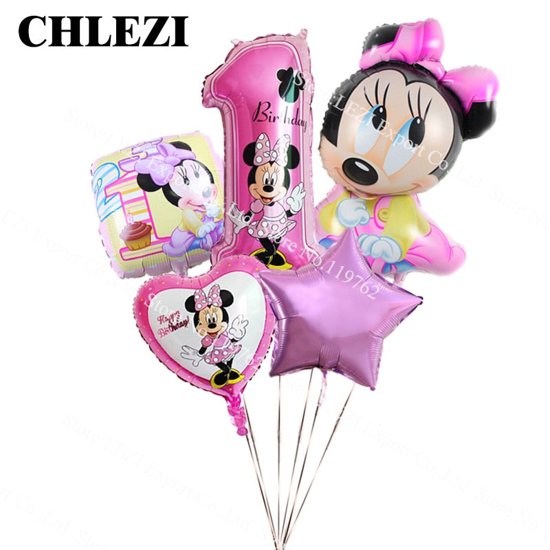 """Minnie Mouse 18/"""" Foil Balloon Girls Birthday Party Decoration"""