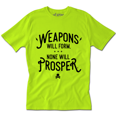 Weapons Neon Green Tee
