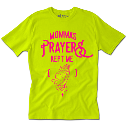 Momma's Prayers Tee (Neon)