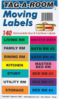 Tag-A-Room label kit - 140 color coded stickers - Boxes To Go