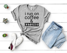 Load image into Gallery viewer, I Run On Coffee And Ketones Short-Sleeve Unisex T-Shirt (Black print)