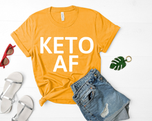 Load image into Gallery viewer, Keto AF Short-Sleeve Unisex T-Shirt (White Print)