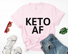 Load image into Gallery viewer, Keto AF Short-Sleeve Unisex T-Shirt (Black print)