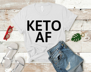 Keto AF Short-Sleeve Unisex T-Shirt (Black print)