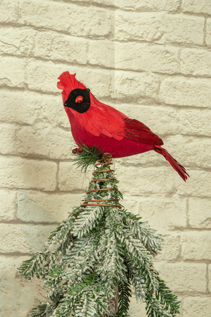 Red Cardinal Tree Topper Jj S Holiday Gifts Decor