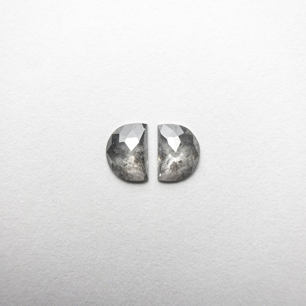 0.57ct 5.25x3.85x1.55mm Half Moon Rosecut Matching Pair 18454-07