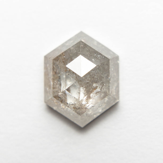 3.08ct 10.49x8.18x4.46mm Hexagon Rosecut 18553-26