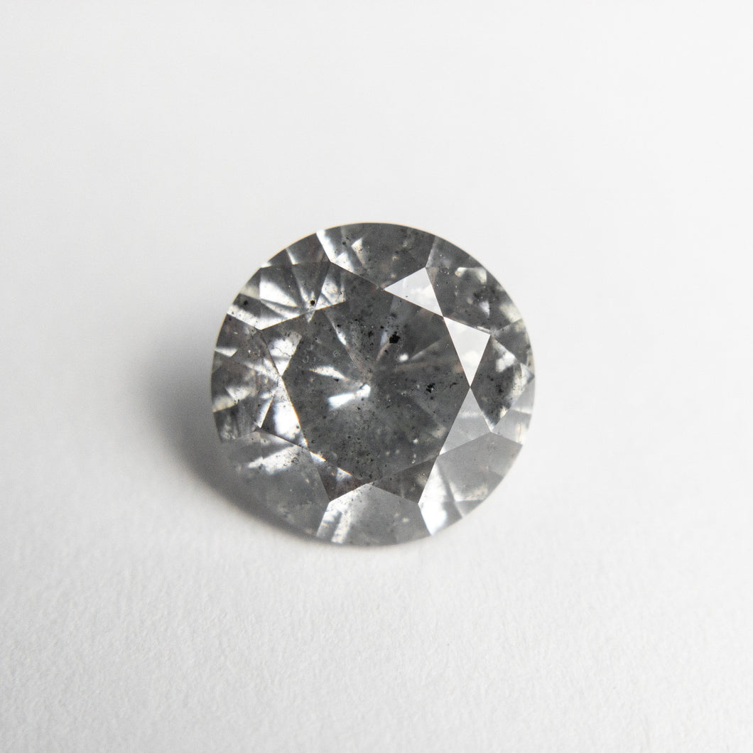 1.93ct 8.00x7.97x4.77mm I1 Fancy Grey Round Brilliant 18671-02