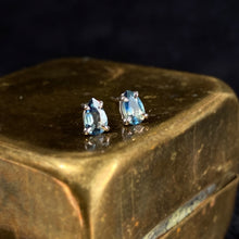 Load image into Gallery viewer, Happy Tears Parti Sapphire Studs (white gold)