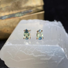 Load image into Gallery viewer, Happy Tears Parti Sapphire Studs
