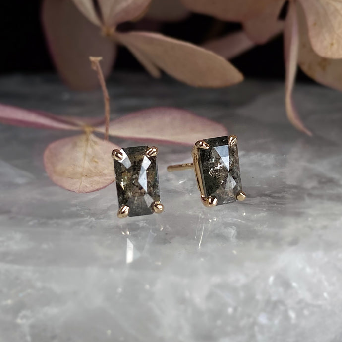 Jil Emerald Cut Diamond Studs