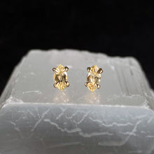 Load image into Gallery viewer, Lemonade Sapphire Marquise Studs