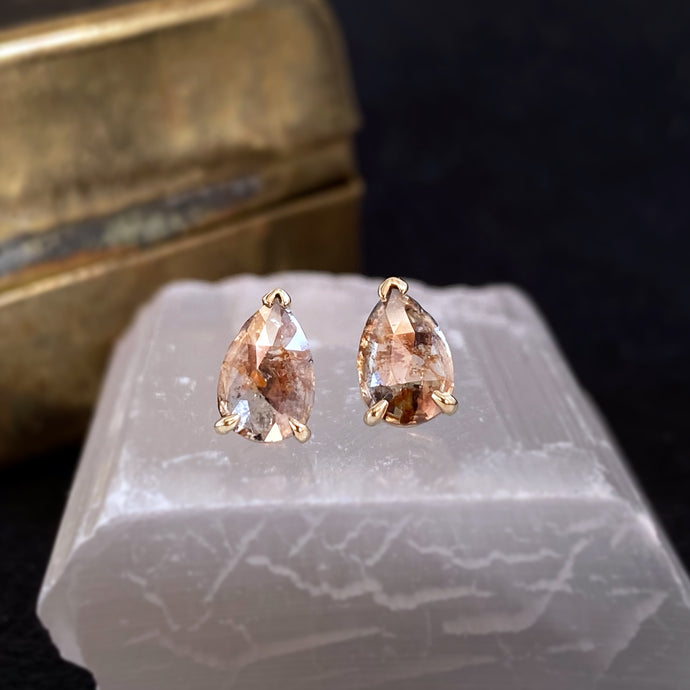 Sabrina Pear Diamond Studs