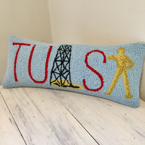 Golden Driller pillow