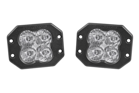 "Diode Dynamics Stage Series 3"" SAE/DOT White Sport Flush Mount LED Pod (pair)"