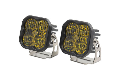 "Diode Dynamics Stage Series 3"" SAE/DOT Yellow Sport Standard LED Pod (pair)"