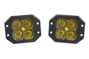"Diode Dynamics Stage Series 3"" SAE/DOT Yellow Pro Flush Mount LED Pod (pair)"