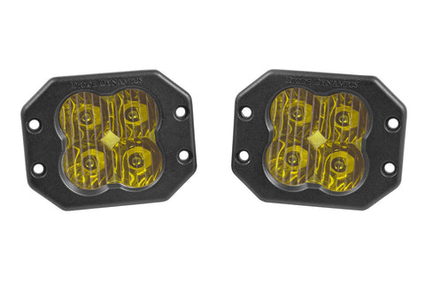 "Diode Dynamics Stage Series 3"" SAE/DOT Yellow Sport Flush Mount LED Pod (pair)"