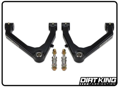 Dirt King Boxed Uniball Upper Control Arms [16-18 Silverado w/ OEM Stamped Steel Arms]