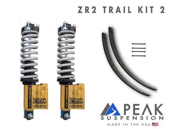 Peak Suspension ZR2 Coilover Conversion Trail Kit w/ AAL