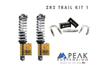 Peak Suspension ZR2 Coilover Conversion Trail Kit w/ Blocks