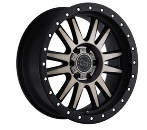 BLACK RHINO TANAY  6/120 ET30 CB67.1 MATTE BLACK W/MACHINE FACE & DARK MATTE TINT