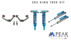 "King Shocks 2.5"" Trek Kit with Uniball Arms [17+ Colorado ZR2]"