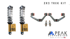 Peak Suspension ZR2 Coilover Conversion Trek Kit